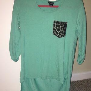 Teal half sleeve shirt